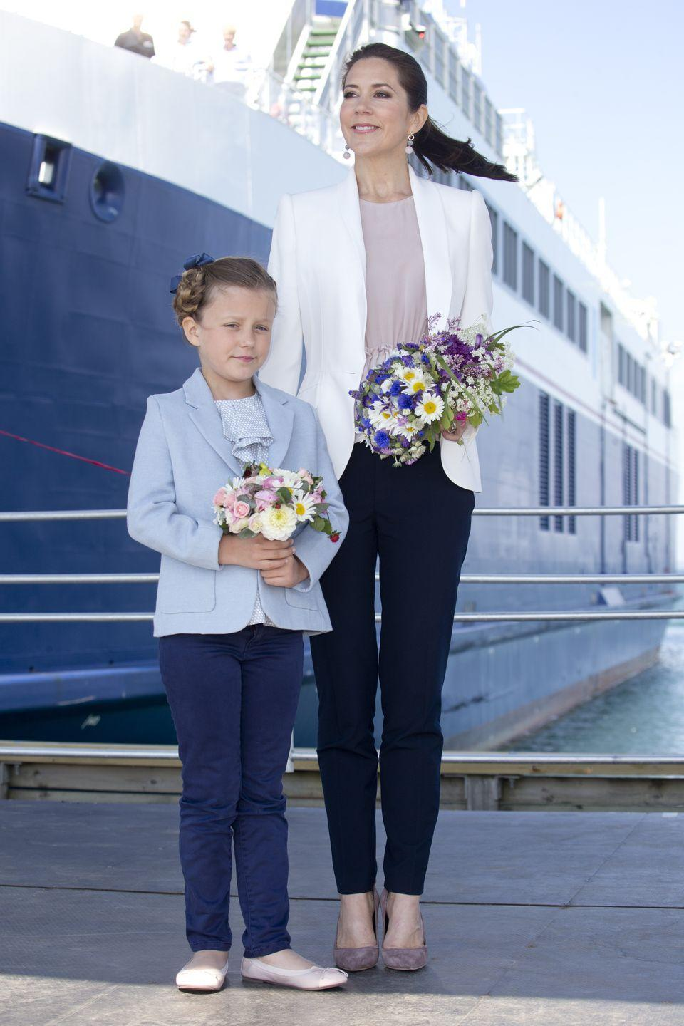 <p>The wife of the heir apparent to the Danish crown, Her Royal Highness, The Crown Princess of Denmark was not born into royalty. Crown Princess Mary is of Scottish descent, but was raised in Australia, and met the prince in a pub in Sydney in 2003. </p>