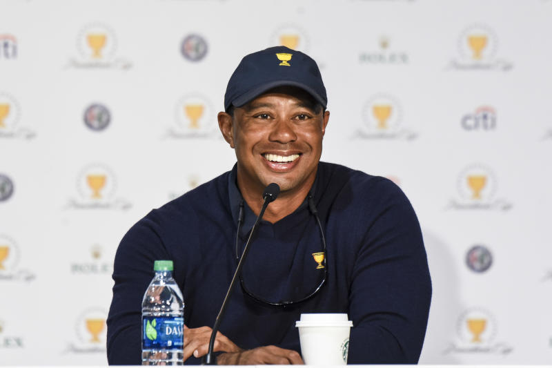 Woods, pictured on Oct. 1, thanked his fans for sticking by him during his back injury. (Keyur Khamar via Getty Images)