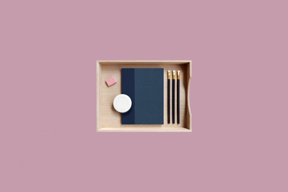 """<p>With both month and week views, this undated planner is just the thing for the new school year. With a subtle style and linen cover, it's ideal for the minimalist student.</p> <p><strong><em>Shop Now:</em></strong><em> Present & Correct """"Mono"""" Agenda, $30.75, <a href=""""https://www.presentandcorrect.com/products/mono-agenda?_pos=1&_sid=cce986354&_ss=r&variant=31308278824995"""" rel=""""nofollow noopener"""" target=""""_blank"""" data-ylk=""""slk:presentandcorrect.com"""" class=""""link rapid-noclick-resp"""">presentandcorrect.com</a>.</em></p>"""