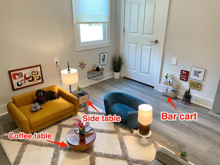 Ben Mazer created a living room for his dogs so they could have a place to hang out while he's working as an ER doctor.