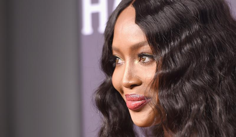 Naomi Campbell is taking germ prevention seriously during coronavirus fears. (Getty Images)