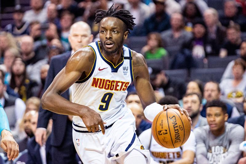 Instead of talking about basketball, Nuggets forward Jerami Grant only wanted to bring attention to Breonna Taylor's death on Wednesday.