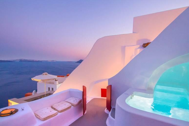 """<a href=""""https://www.airbnb.com/rooms/433392""""><strong>Hector Cave House</strong></a><strong>, Santorini, Greece Wish Listed 254,773 times</strong> There is no questioning why this house in Santorini is a top pick of 2018. Carved into the caldera cliff, this special property was originally a wine cellar and was turned into a vacation home. Guests love the clean lines inside featuring a fully functioning kitchen and common areas; outside a veranda offers space to soak up the sun and spend time with your nearest and dearest."""