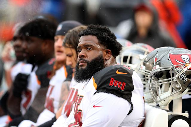 Left tackle Donovan Smith and the Tampa Bay Buccaneers have reportedly agreed to a three-year contract extension for the 2015 draft pick. (Getty Images)