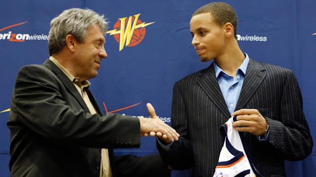 <p>Larry Riley is the man responsible for drafting Stephen Curry...</p>