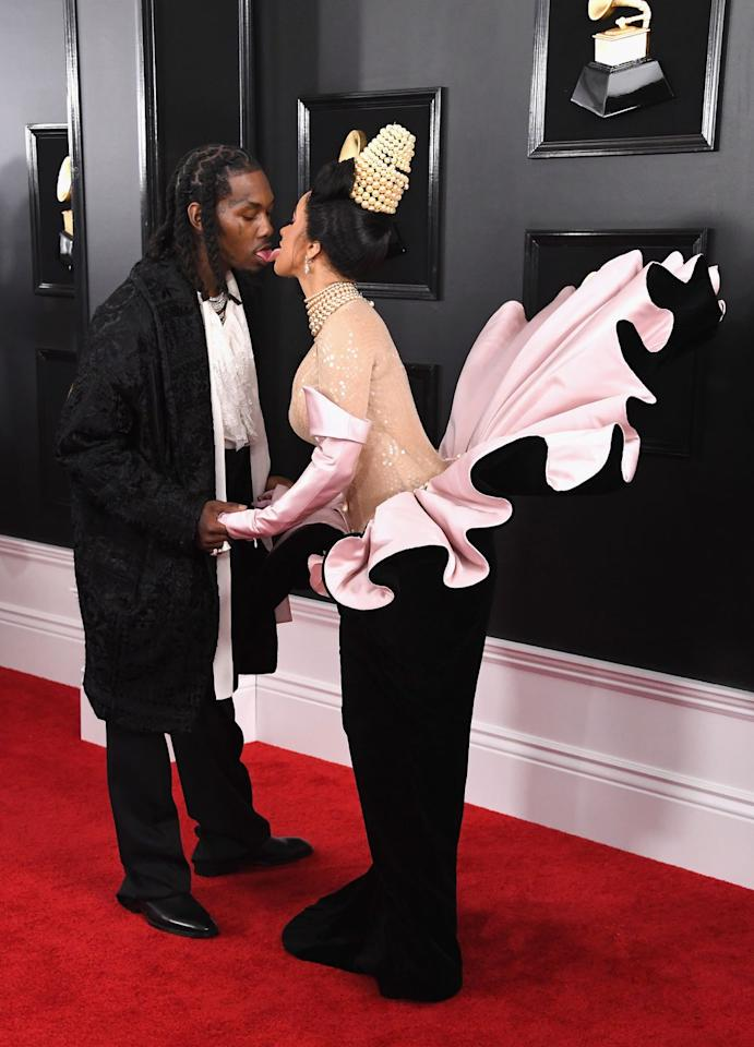 <p>Though their current relationship status is TBH, kind of confusing, they weren't afraid to show PDA - the two locked tongues on the red carpet.</p>