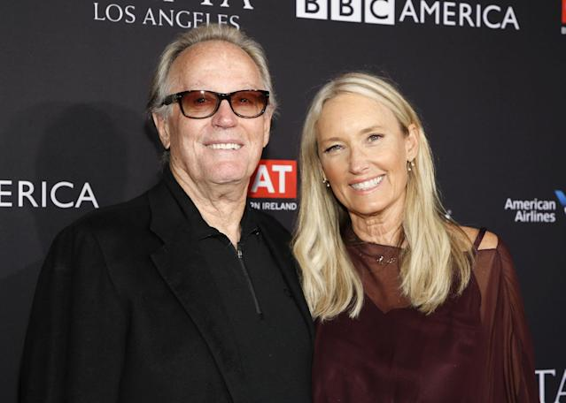Actor Peter Fonda and wife, Parky, at an awards season event in Los Angeles, Jan. 6, 2018. (Photo: Danny Moloshok/Reuters)