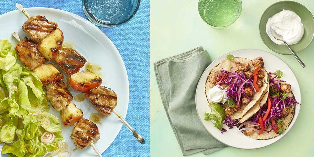 "<p>You shouldn't have to compromise on taste in order to serve your family a <a href=""https://www.womansday.com/healthy-recipes/"" target=""_blank"">healthy dinner</a> – and with these light yet filling dinner ideas, you'll never skimp on flavor again. Packed with tasty, good-for-you ingredients, these recipes won't have your family scrounging the kitchen for after-dinner snacks. From tender chicken mole tacos to grilled watermelon and steak salad, there's enough variety to keep the whole family interested. We're sure a few of them will make their way onto your weekly menu. And for even more ideas, check out our <a href=""https://www.womansday.com/food-recipes/food-drinks/g2176/hearty-healthy-recipes/"" target=""_blank"">heart-healthy dinners</a> next - and, of course, don't forget about <a href=""https://www.womansday.com/health-fitness/g26856160/healthy-ice-creams/"" target=""_blank"">dessert</a>!  </p>"