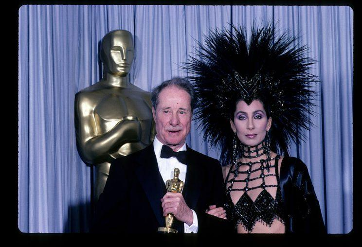 Cher at the Oscars in 1986.