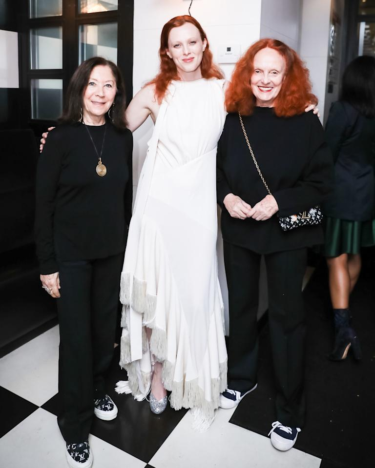 Phyllis Posnick, Karen Elson and Grace Coodington attend an intimate dinner in celebration of W's New Originals Issue at Shun Lee West with Casa Noble and Chateau D'Esclans on October 16, 2019.