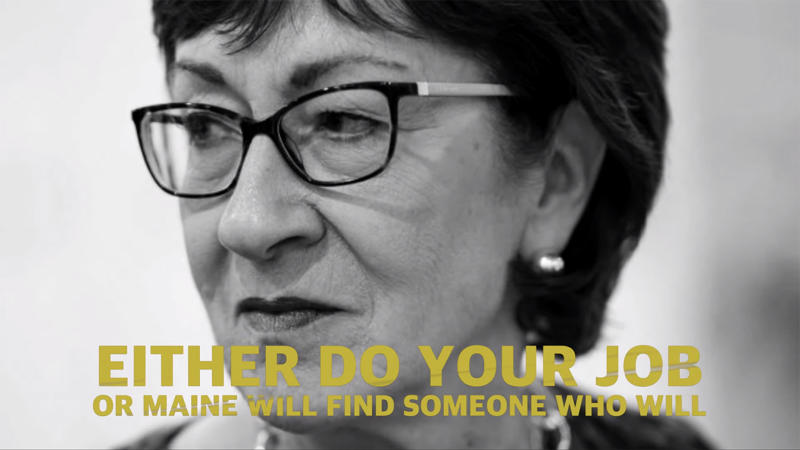 A screengrab from the Lincoln Project's new ad targeting Sen. Susan Collins. (Yahoo News)