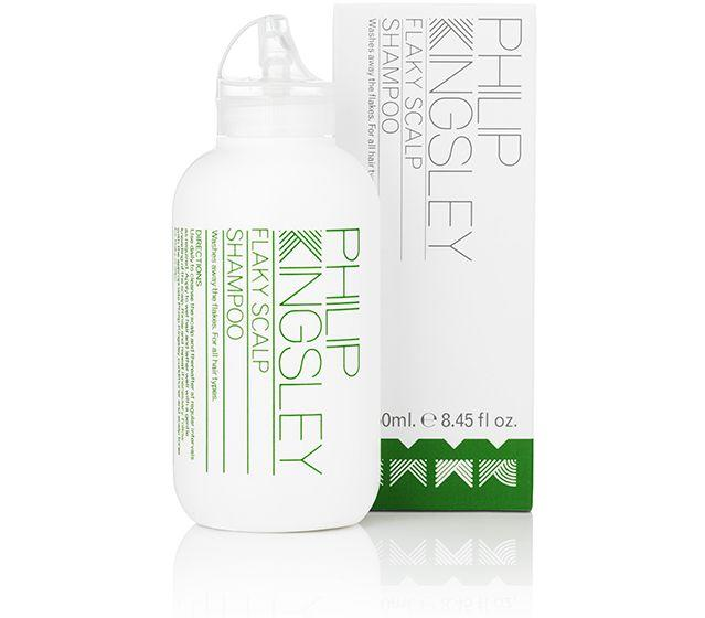 """<h3>Philip Kingsley Flaky Scalp Shampoo<br></h3><br>As Kingsley points out, hair loss can be also be due to unbalanced scalp (versus androgenic alopecia). """"If you have a flaky scalp, a targeted antimicrobial shampoo that clears it can help minimize hair that is shedding as a result of your scalp condition,"""" she says, noting that an anti-dandruff shampoo like this one, <em>not</em> a hair loss shampoo, can help in these cases.<br><br><strong>Philip Kingsley</strong> Flaky Scalp Shampoo, $, available at <a href=""""https://go.skimresources.com/?id=30283X879131&url=https%3A%2F%2Fwww.philipkingsley.com%2Fphilip-kingsley-flaky-itchy-scalp-shampoo.html"""" rel=""""nofollow noopener"""" target=""""_blank"""" data-ylk=""""slk:Philip Kingsley"""" class=""""link rapid-noclick-resp"""">Philip Kingsley</a>"""
