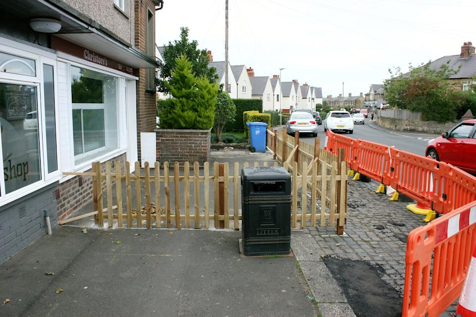 Customers are furious, branding Williams 'petty' for erecting the fence (swns)