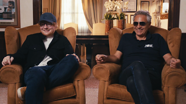 Ed Sheeran, left, and Andrea Bocelli (Photo: ET Canada)