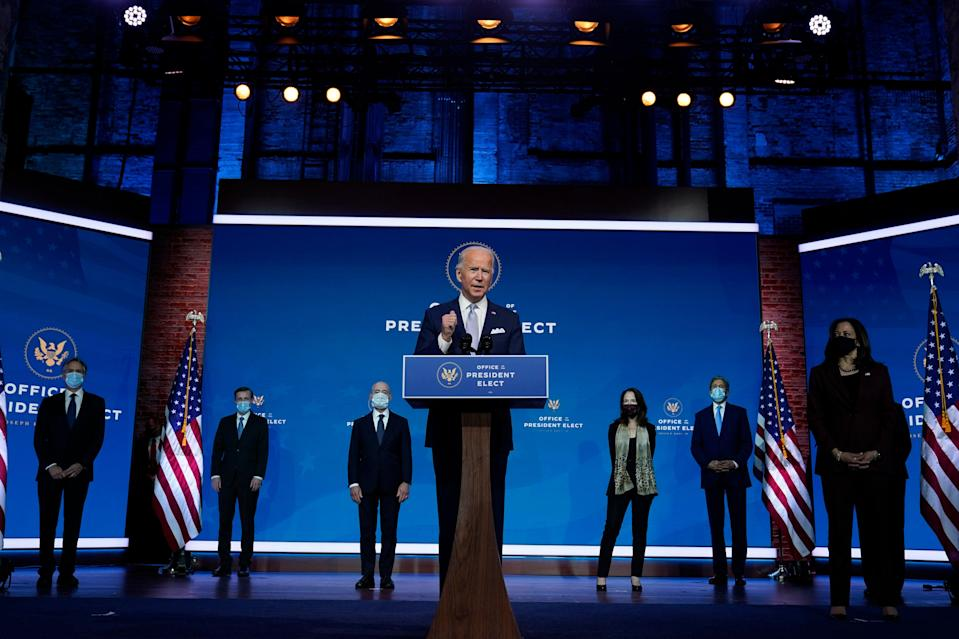 <p>Joe Biden introduces his national security team an hour before Donald Trump pardoned his final Thanksgiving turkey.</p> (Copyright 2020 The Associated Press. All rights reserved)