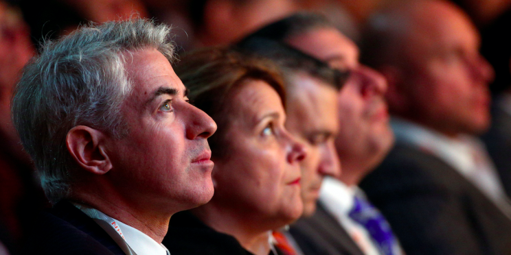 William Ackman, founder and CEO of hedge fund Pershing Square Capital Management, attends the Sohn Investment Conference in New York City, U.S. May 4, 2016. REUTERS/Brendan McDermid