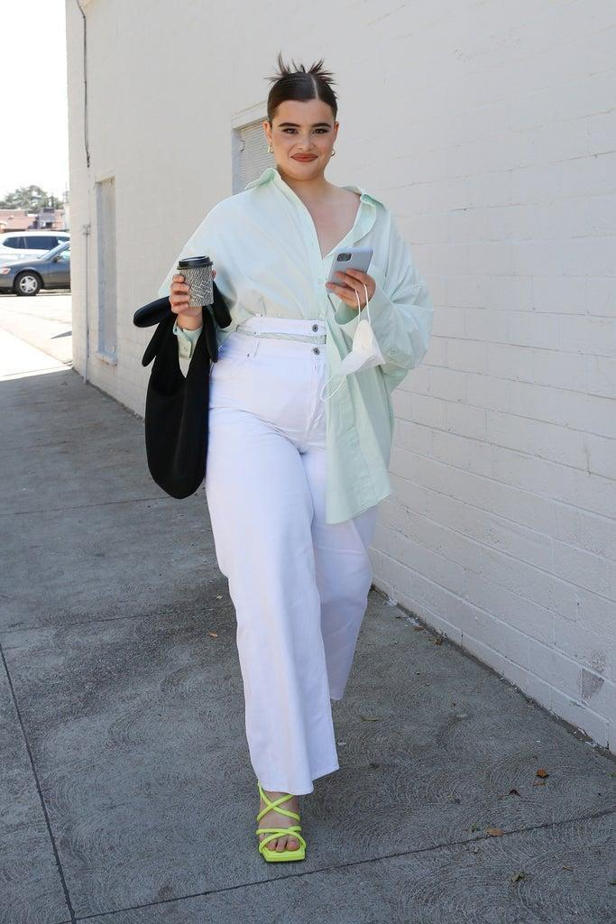 LOS ANGELES, CALIFORNIA – MARCH 18: Barbie Ferreira spotted out and about grabbing coffee on March 18, 2021 in Los Angeles, California. (Photo by Rachel Murray/WireImage)