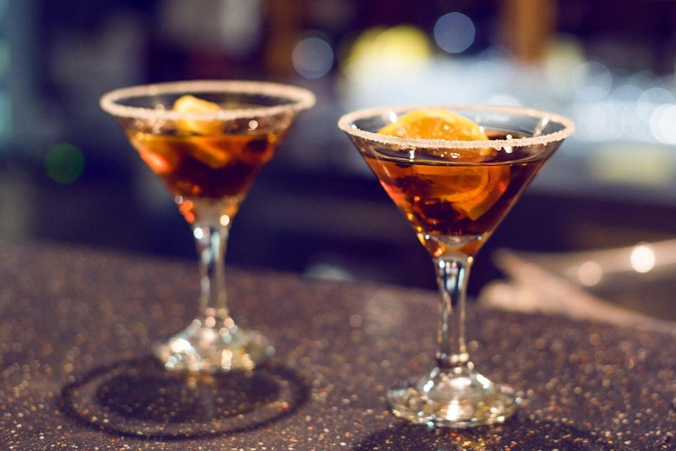"""<p>A Negroni with whiskey instead of gin, the boulevardier might be your new favorite drink. Rye whiskey, Campari, and sweet vermouth make this Ohio pick swoon worthy.</p> <p><strong>Get the recipe</strong>: <a href=""""https://www.popsugar.com/buy?url=https%3A%2F%2Fmixthatdrink.com%2Fthe-boulevardier%2F&p_name=boulevardier&retailer=mixthatdrink.com&evar1=yum%3Aus&evar9=47471653&evar98=https%3A%2F%2Fwww.popsugar.com%2Ffood%2Fphoto-gallery%2F47471653%2Fimage%2F47475471%2FOhio-Boulevardier&list1=cocktails%2Cdrinks%2Calcohol%2Crecipes&prop13=api&pdata=1"""" class=""""link rapid-noclick-resp"""" rel=""""nofollow noopener"""" target=""""_blank"""" data-ylk=""""slk:boulevardier"""">boulevardier</a></p>"""