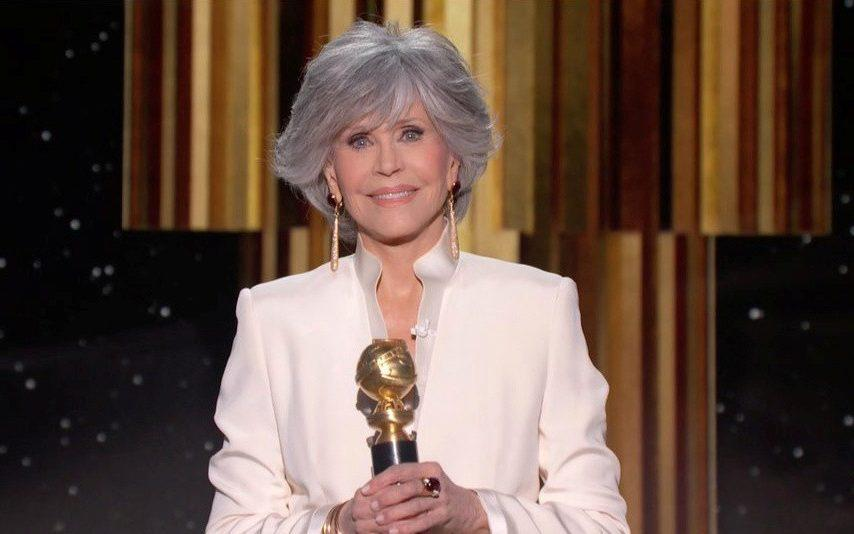 Jane Fonda mentioned musical theatre legend Tommy Tune while accepting the Cecil B DeMille Award last night - NBC/Reuters