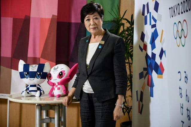 Tokyo Governor Yuriko Koike said she seek the continued support of Olympics sponsors (AFP Photo/Philip FONG)