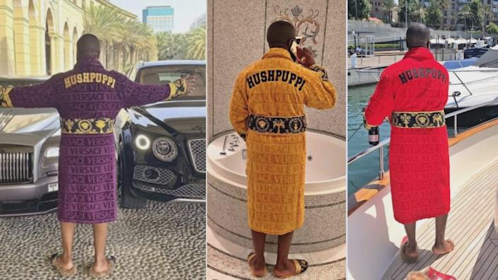 <div class='inline-image__caption'><p>Ray Hushpuppi had a penchant for personalized robes.</p></div> <div class='inline-image__credit'>U.S. District Court/Instagram</div>