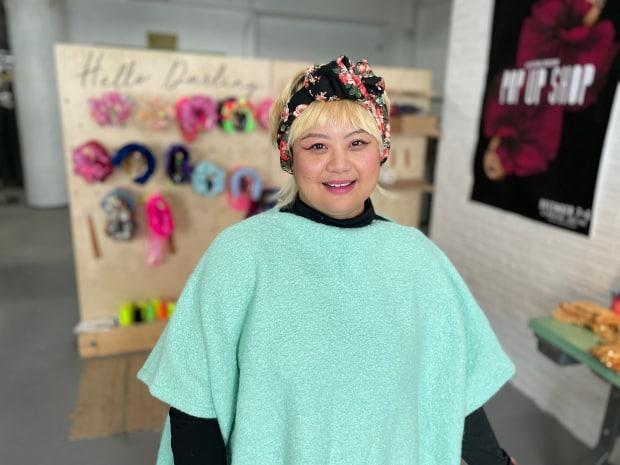 Miriam Miriam Delos Santos, owner of Hello Darling Co., says Instagram and her imagination inspired some bold designs in the past couple of years. (Jaison Empson/CBC - image credit)