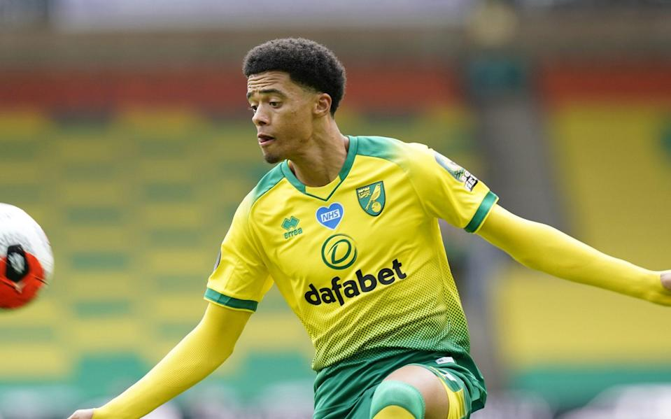 Jamal Lewis of Norwich in action during the English Premier League match between Norwich City and West Ham United -Liverpool interested in Norwich defender Jamal Lewis as Jurgen Klopp looks to plug Dejan Lovren hole - SHUTTERSTOCK