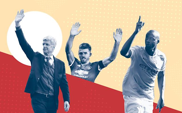 It will be an emotionally charged afternoon at the John Smith's Stadium on Sunday where Arsene Wenger will deliver his final dressing room speech to an attentive Arsenal squad. The Frenchman will not be the only individual connected to a top-flight club wiping away a tear or two come 5pm. A host of other players are preparing to sign off at their respective clubs this weekend. Here's the roll-call for those we officially know will be leaving for pastures new - and a selection of others who could be turning out for their current Premier League clubs for one last time. Get the tissues ready. The players and manager saying au revoir... Arsene Wenger Near on 24,000 fans will pack Huddersfield's John Smith's Stadium to witness the end of the Arsene Wenger farewell tour. It isn't the glamorous and prestigious surroundings Wenger nor the majority of Arsenal fans would have preferred to see the Frenchman bring down the curtain on an illustrious career at the north London club which yielded three Premier League titles, seven FA Cups and 20 St Totteringham Day memories. Arsene Wenger leaves Arsenal after 22 years in charge Credit: AFP Per Mertesacker Unlike Wenger, veteran defender Mertesacker will not be leaving Arsenal altogether after ending his playing days. The 33-year-old German will return after the summer recess in a new full-time role as the club's academy manager. Mertesacker ends his playing days with over 150 Premier League appearances to his name since joining from Werder Bremen in 2011. He has won three FA Cups during his spell and was man-of-the-match in last year's final against Chelsea. Per Mertesacker will take up a new role at Arsenal this summer Credit: Reuters Yaya Toure The Ivorian played a huge part in Manchester City's rise to Premier League glory after joining from Barcelona for £24m in 2010. He was an integral part of their first two title wins in 2012 and 2014, especially the latter one which yielded 20 league goals and nine assists. Only Liverpool 