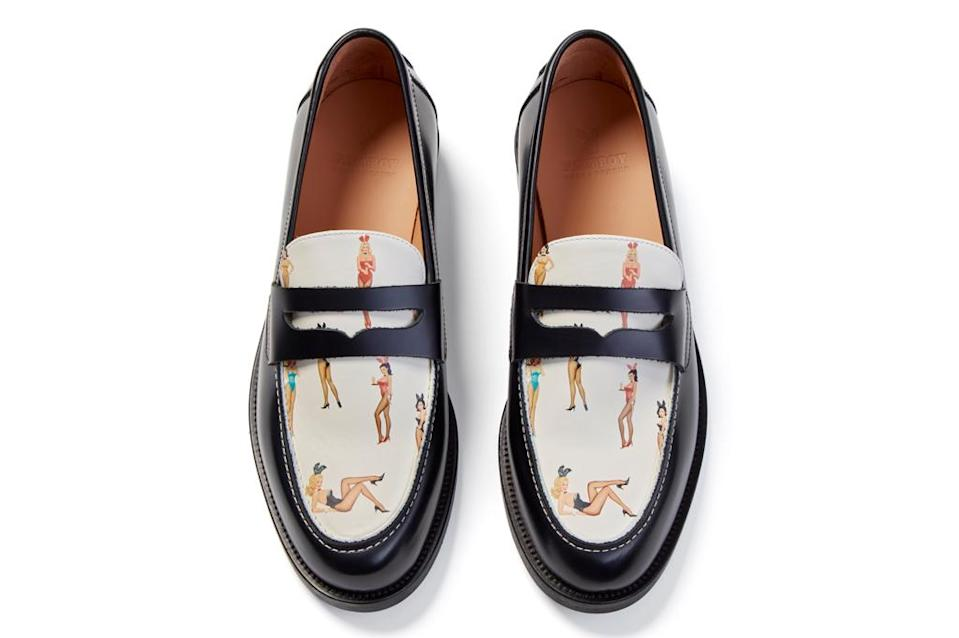A penny loafer from the Duke & Dexter x Playboy collaboration collection. - Credit: Courtesy of Duke & Dexter
