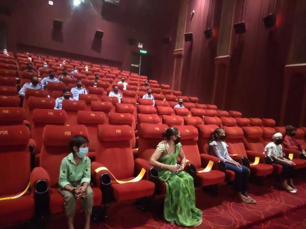 The special screening for COVID warriors at PVR-Vasant Kunj in Delhi on Thursday. (Photo/ANI)