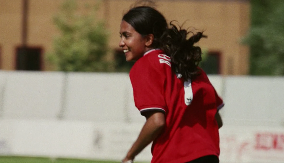"""Bend it like Beckham"" drew nearly $77 million at the box office, becoming the highest-earning sports film to have soccer as the focus. (Photo by Disney+)"