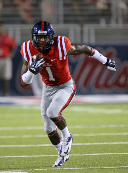 Ole Miss sophomore receiver Laquon Treadwell.(Spruce Derden/USA TODAY Sports)