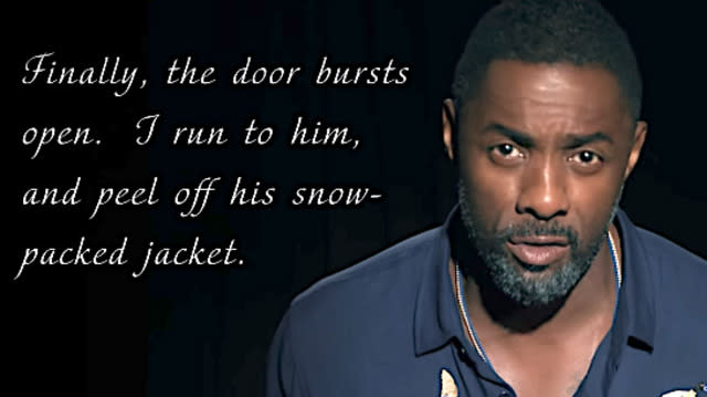 """Idris Elba goes full """"Fifty Shades"""" in this amusing new video."""