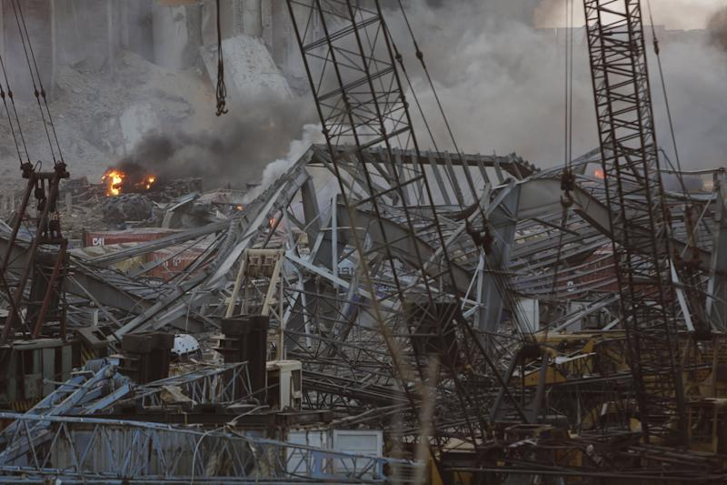 The blast destroyed numerous apartment buildings, potentially leaving large numbers of people homeless (Getty Images)