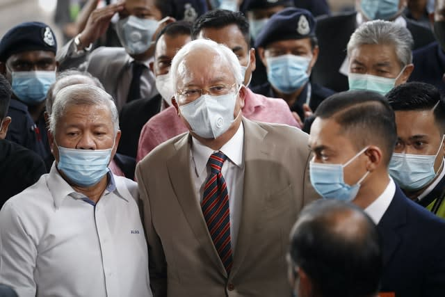 Najib was found guilty on all seven charges (Vincent Thian/AP)