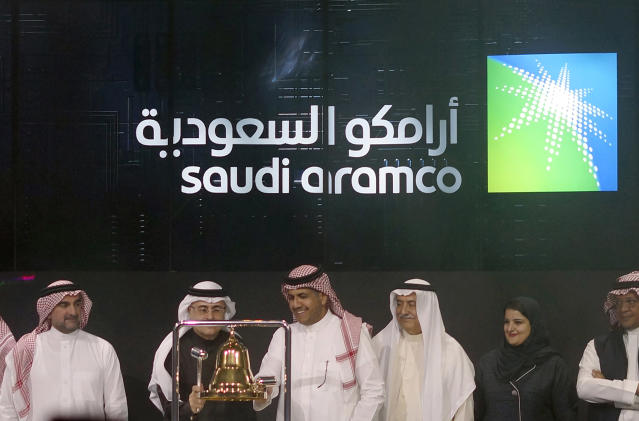 Shares in state-owned oil company Saudi Aramco plumbed new lows on Monday Photo: AP Photo/Amr Nabil/file photo