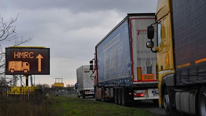 Freight heading for Waterbrook Park facility in Ashford, Kent