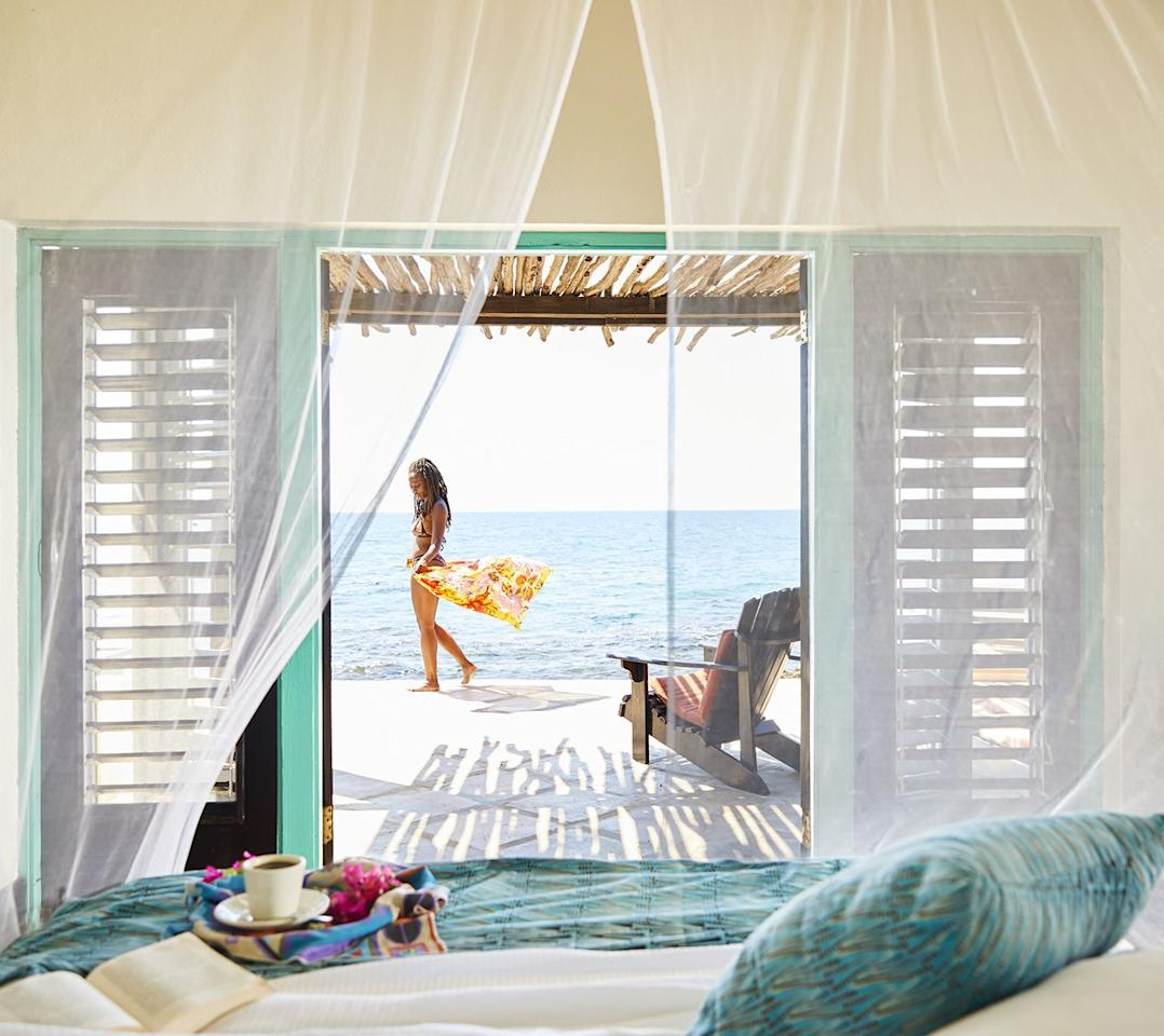 """<p><a href=""""https://jakeshotel.com"""" target=""""_blank"""">Jakes</a> is an off the beaten path, secluded 5-acre beach paradise located in the Saint Elizabeth parish of Jamaica's southwest corner. This beautiful enclave of native Jamaican culture boasts the most adorable and truly authentic rooms on the island. If you're looking for a generic all-inclusive vacation, Jakes is not for you. The resort offers a varied selection of packages ranging from the Pressure Drop, a four night/five day accommodation plan for $1,090 (prices range) that includes: three yoga classes, two bicycle runs, three strength training classes, a $50 spa credit to the onsite <a href=""""https://jakeshotel.com/driftwood-spa-at-jakes-treasure-beach-jamaica"""" target=""""_blank"""">Driftwood Spa</a> and a vegan or vegetarian meal plan. Other <a href=""""https://jakeshotel.com/killa-rates"""" target=""""_blank"""">packages</a> include the Sweet + Dandy, a plan that offers seven nights (in a two bedroom cottage), a two hour fishing session with a local fisherman, a guided bicycle tour, a pizza making class and a day at the Pedro Plains Farms on a guided tour for only $1,705.</p>"""