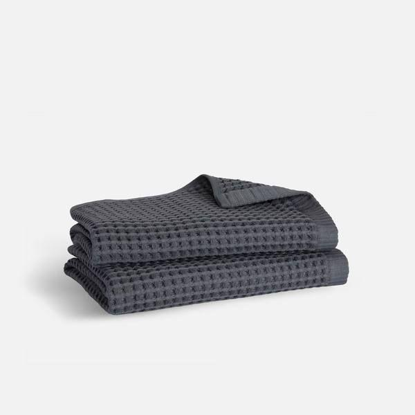 """<p><strong>Brooklinen</strong></p><p>brooklinen.com</p><p><strong>$35.00</strong></p><p><a href=""""https://go.redirectingat.com?id=74968X1596630&url=https%3A%2F%2Fwww.brooklinen.com%2Fproducts%2Fwaffle-hand-towels&sref=https%3A%2F%2Fwww.goodhousekeeping.com%2Fhome-products%2Fg36124413%2Fbest-kitchen-dish-towels%2F"""" rel=""""nofollow noopener"""" target=""""_blank"""" data-ylk=""""slk:Shop Now"""" class=""""link rapid-noclick-resp"""">Shop Now</a></p><p>Brooklinen's bath towels took a top spot in our <a href=""""https://www.goodhousekeeping.com/home-products/towel-reviews/g5037/best-bath-towel-reviews/"""" rel=""""nofollow noopener"""" target=""""_blank"""" data-ylk=""""slk:bath towel"""" class=""""link rapid-noclick-resp"""">bath towel</a> test, so it's no surprise the brand's waffle hand towels have over 100 reviews with a 4.4 rating. <strong>Shoppers praise these for being high-quality and soft.</strong> These are made from 100% Turkish cotton and the waffle-weave will help them dry quickly. Take note, according to Brooklinen because of the weave these tend to warp after drying but will stretch out during use.</p>"""