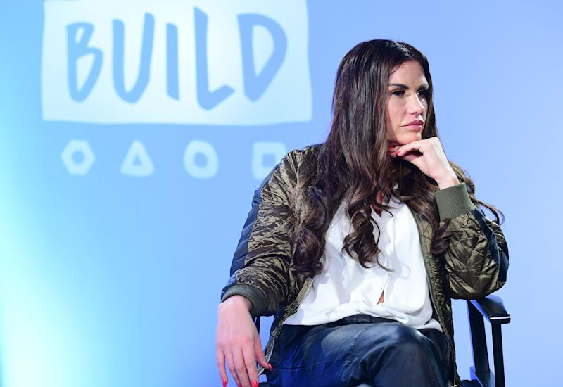 Katie Price joins BUILD for a live discussion at AOL's Capper Street Studio in London. (Photo by Ian West/PA Images via Getty Images)