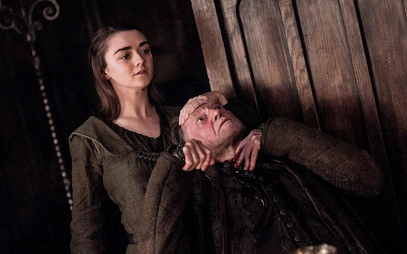 Arya Stark kills Walder Frey at the end of Game of Thrones season six - HBO