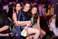 """<p>She palled around with <a class=""""link rapid-noclick-resp"""" href=""""https://www.popsugar.com/Katy-Perry"""" rel=""""nofollow noopener"""" target=""""_blank"""" data-ylk=""""slk:Katy Perry"""">Katy Perry</a> and <a class=""""link rapid-noclick-resp"""" href=""""https://www.popsugar.com/Kristen-Stewart"""" rel=""""nofollow noopener"""" target=""""_blank"""" data-ylk=""""slk:Kristen Stewart"""">Kristen Stewart</a> at the Kids' Choice Awards in LA.</p>"""