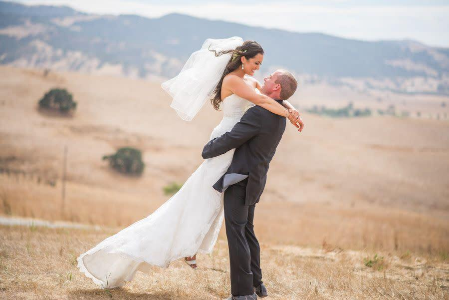 """""""Congratulations to Jena and&nbsp;Joe! They tied the knot in the bride's hometown of Hollister, California on July 15."""" --<i> Lisa Robinson&nbsp;</i>"""