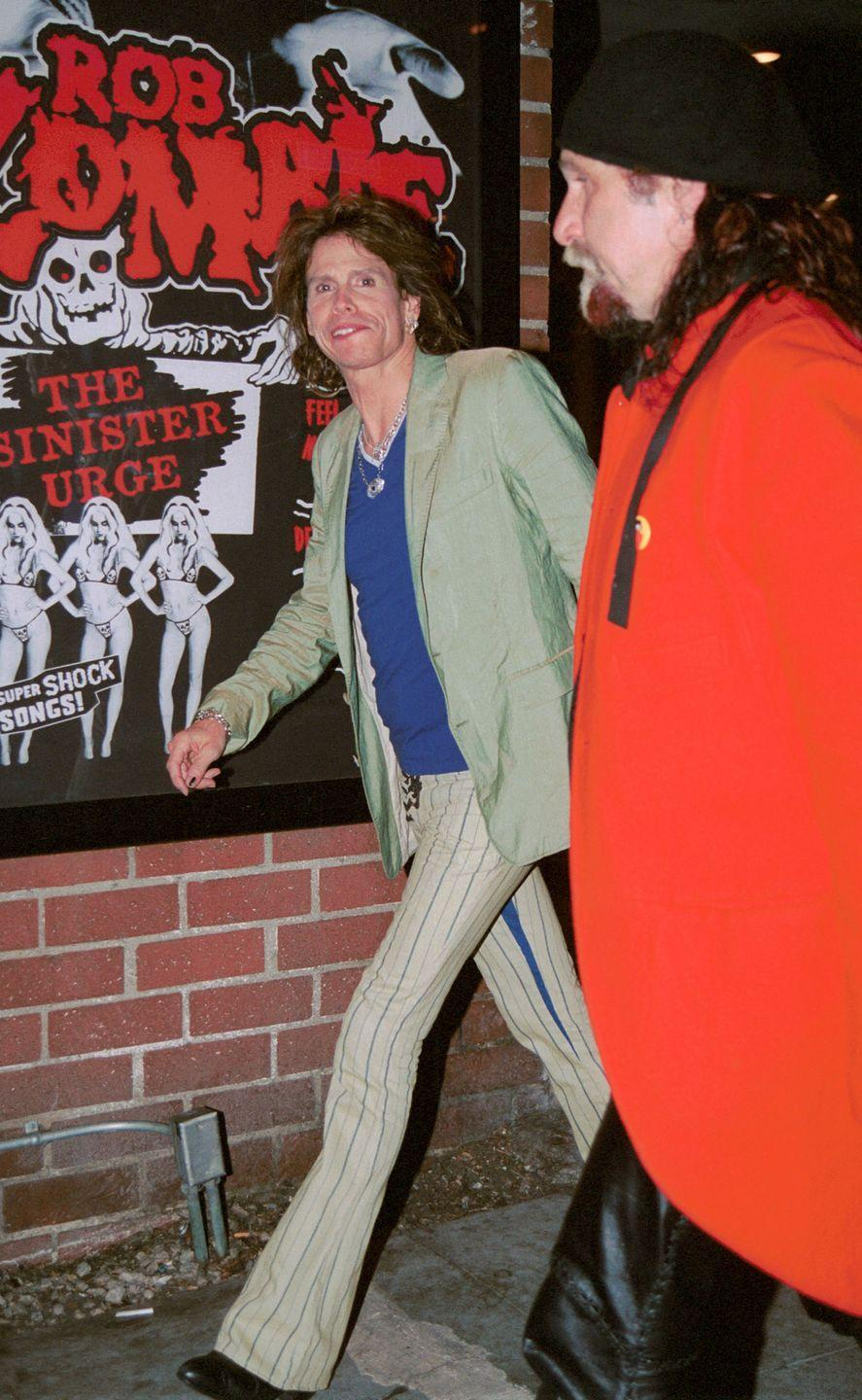 <p>Steven Tyler and Mark Hudson leave The Viper room April 30, 2002 in West Hollywood, CA.</p>