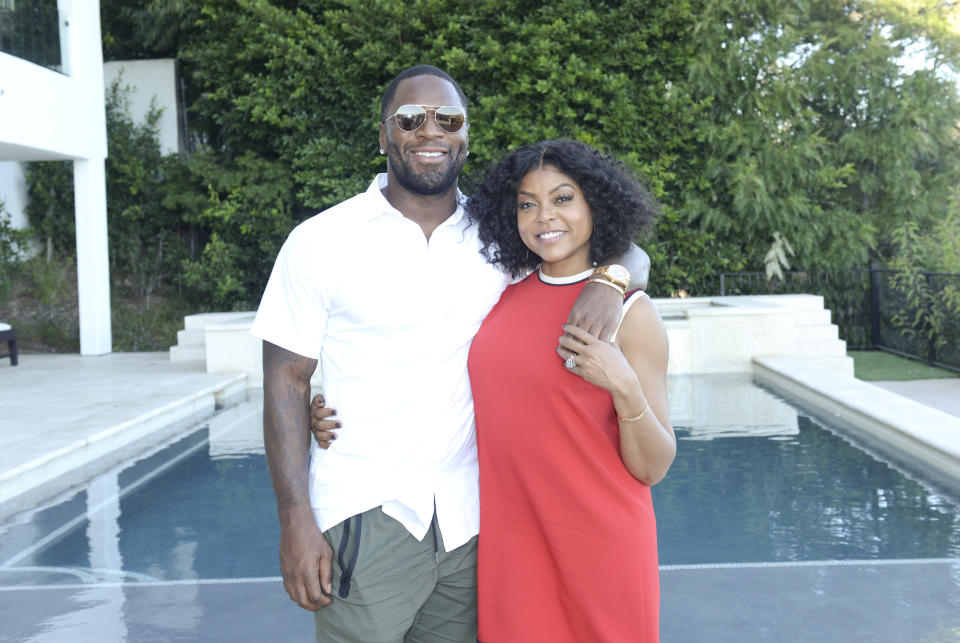 Taraji P. Henson and Kelvin Hayden in September 2018.