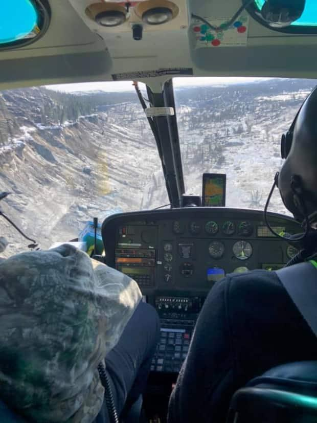 Provincial and federal public security officials are helping investigate a landslide that occurred upriver from the Cree and Inuit communities of Whapmagoostui and Kuujjuarapik in northern Quebec. A spokesperson for Quebec public security said the population is not in any immediate danger. (submitted by Doreen E. George - image credit)