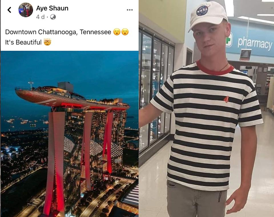 American Facebook user Shaun Fontenot spawned a viral meme among Singaporeans by saying that Marina Bay Sands is in downtown Chattanooga in Tennessee.