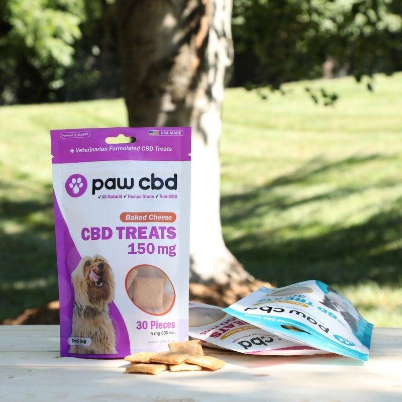 "<h3><h2>Paw CBD Peanut Butter Treats</h2></h3><br>""I was pretty hesitant to give my new dog any CBD, but I love the amount of information this brand gives me about every single product. <a href=""https://www.pawcbd.com/dogs/dog-treats/paw-cbd-dog-treats.html"" rel=""nofollow noopener"" target=""_blank"" data-ylk=""slk:Their website"" class=""link rapid-noclick-resp"">Their website</a> even has a certificate of analysis from a lab for every single product. They have CBD treats tailored to different dogs of different sizes, ages, and needs, too. These ones are easy to break into pieces and the peanut butter flavor is a Freddie favorite."" — <em>Leora</em><br><br><strong>Paw CBD</strong> CBD Dog Treats 150 mg, $, available at <a href=""https://go.skimresources.com/?id=30283X879131&url=https%3A%2F%2Fwww.pawcbd.com%2Fdogs%2Fdog-treats%2Fpaw-cbd-dog-treats.html"" rel=""nofollow noopener"" target=""_blank"" data-ylk=""slk:Paw CBD"" class=""link rapid-noclick-resp"">Paw CBD</a>"