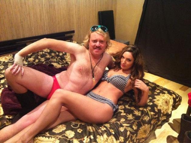 Kieth Lemon tweeted this snap of him and Kelly Brook chilling in their underwear, as you do. The shot comes as the pair shoot scenes for his new film, Keith Lemon: The Movie. The more pictures we see of these kinds of antics, the more we want to watch the movie!