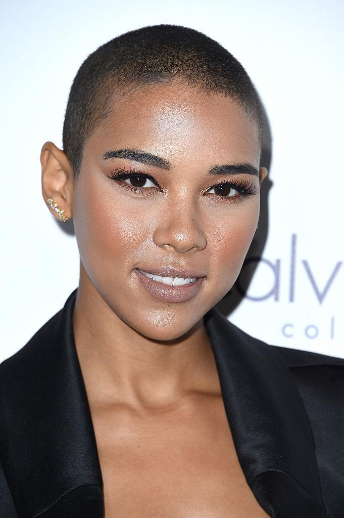 <p>The young actress shaved her head for her role as Storm in <em>X-Men: Apocalypse</em>. (Photo: Getty Images) </p>